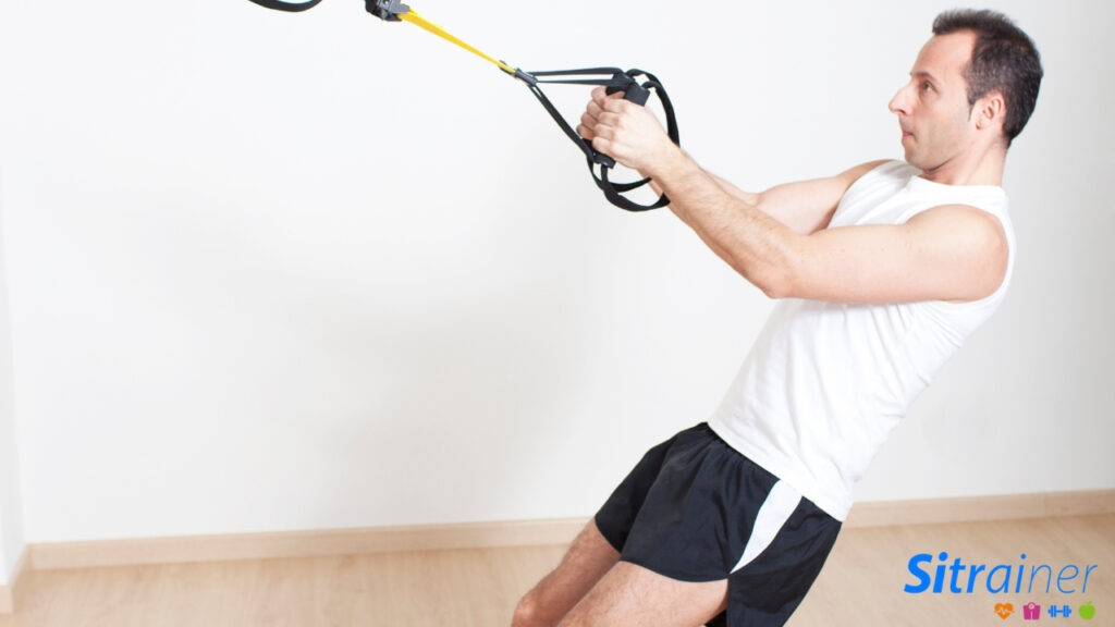 Las TRX o bandas elasticas para entrenar en casa
