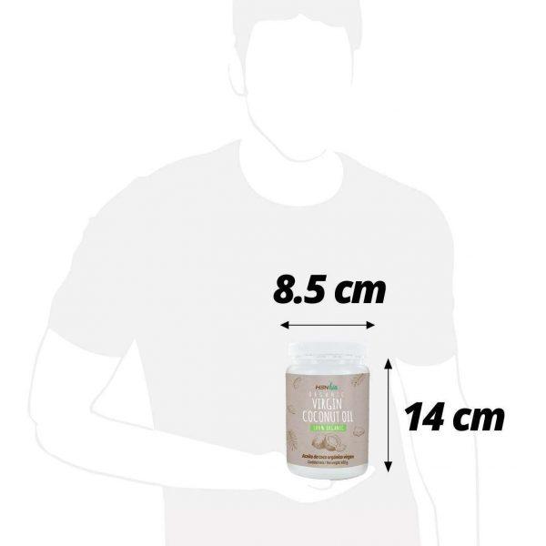 bio coconut oil size